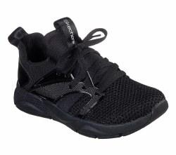 Skechers shine status mono mania Black girls running , training , walking shoes for the gym to the playground 012