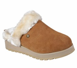 Pamper your feet with warm soft style and comfort wearing the SKECHERS BOBS Keepsakes High - Snow Magic shoe. Soft suede upper in a slip on casual comfort backless clog slipper with faux fur lining and Memory Foam footbed. Subtle wedge heel. 07.5