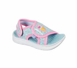 Skechers Toddler Sprinkle Steps Sandal Turq/Pink 06.0