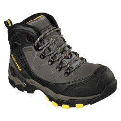 A waterproof, steel-toe hiking boot built to take on challenging workdays in comfort Skechers 77081W08.