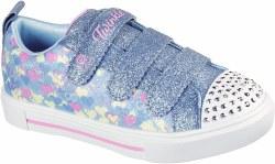 Skechers Girls Twinkle Toes Shining Hearts Light Blue Multi 011.