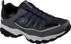 Skechers M Fit Wonted Navy Grey Slip On10.0