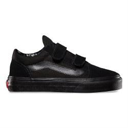 Vans Old Skool V Black Black  Classic Kids Style Vans 2.0