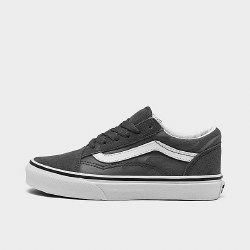 Vans Youth Sizes Old Skool Suede Flame Pewter True White011.