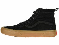 Vans Sk8-Hi MTE Black Gum Fleece flannel lining for warmth08.0