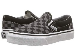 Vans Classic slip ons Black pewter checkerboard Durable canvas upper.04.5