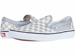 Vans Classic Slip ons Grey Dawn Checkerboard07.0