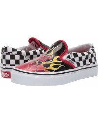 Vans Classic Race Flame Checkerboard Slip On Classic Vans Style Iconic Vans Slip On 04.0