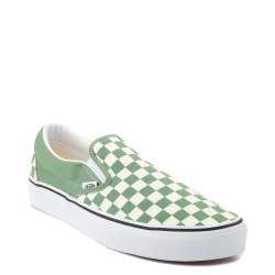 Vans Slip On Classics  Shale Green True White Checkersboard05.0