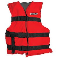 SEACHOICE RED BLK YOUTH LIFE VEST