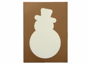SNOWMAN WHITE CARD LARGE 12PK