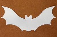 BATS WHITE CARD 12 PER PACK