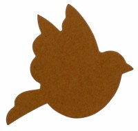 BIRD SHAPE KRAFT CARD 15PK
