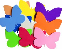 BUTTERFLIES FOAM 10 COLOURS