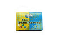 CENTRUM DRAWING PINS COL 36 PK