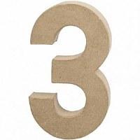 DECO NUMBER 3 H.24.5cm