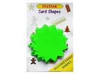 FLUORESCENT STARS 30PK GREEN