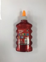 GLITTER GLUE RED 200ML