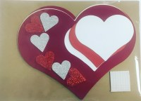 HEARTS FOAM AND CARD ASSORTED