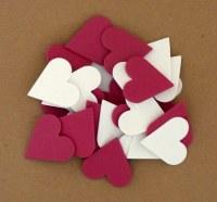 HEARTS FOAM RED & WHITE 30PK