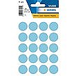 HERMA LABELS ROUND BLUE 19mm