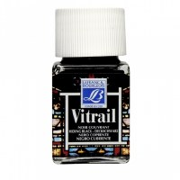 GLASS PAINT VITRAIL BLACK 50ML