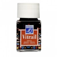 GLASS PAINT ORANGE 50ML VITRAI