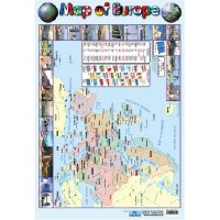 WALL CHART MAP OF EUROPE