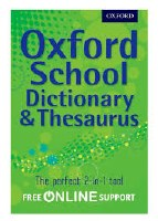 OXFORD SCHOOL DICT & THEAS