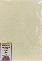 PARCHMENT 180GM CREAM 10PK