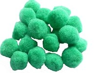 POM POMS 20MM GREEN PK20