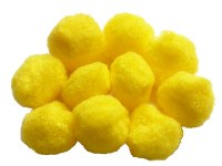 POM POMS 35MM YELLOW PK10
