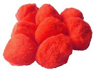POM POMS 45MM RED PK8