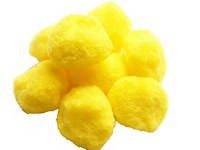 POM POMS 45MM YELLOW PK8