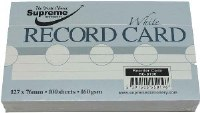 RECORD CARDS 5X3 WHITE RULED