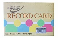 RECORD CARDS 6X4 ASST.5 PASTEL