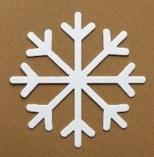 SNOWFLAKE WHITE CARD LRG PK15