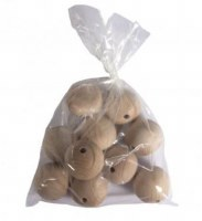 WOODEN BEADS 45MM 10 PACK