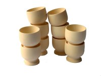 WOODEN EGG CUPS PK10