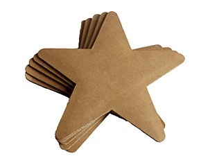 XMAS STAR CARDBOARD 5 PACK