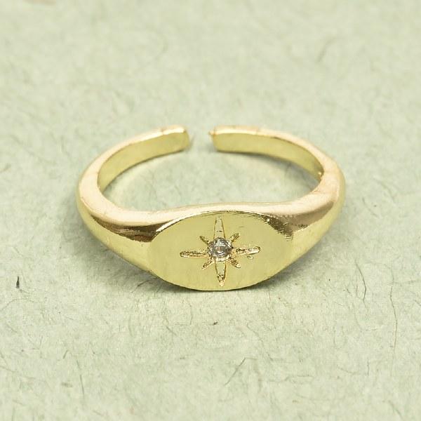 Athena North Star Ring - Gold
