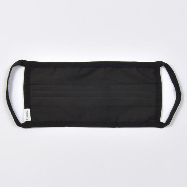 Coal Solid Face Mask - Black