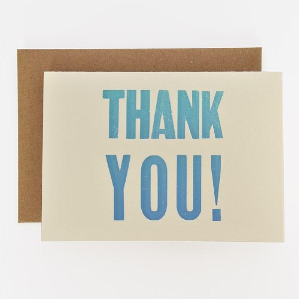 ETC Letterpress Thank You - Neutral
