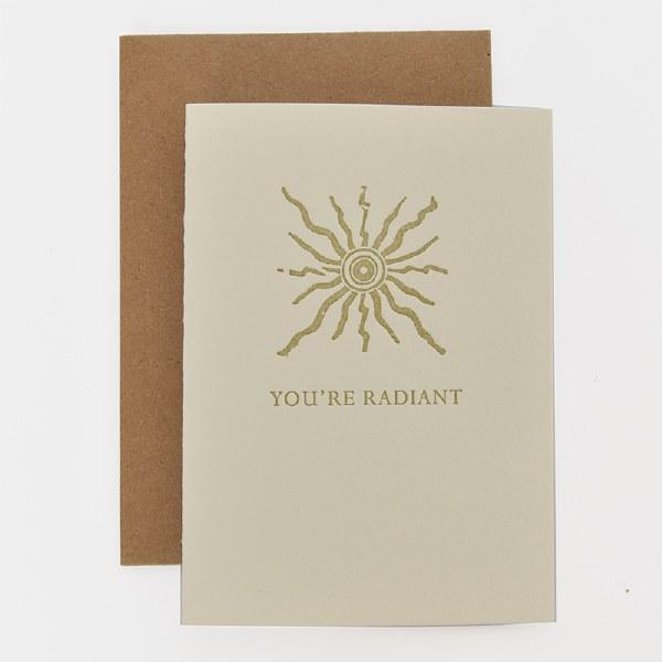 ETC Letterpress You're Radiant - Neutral