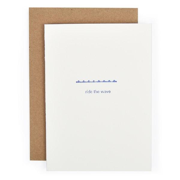 Etc. Letterpress Ride the Wave - Neutral