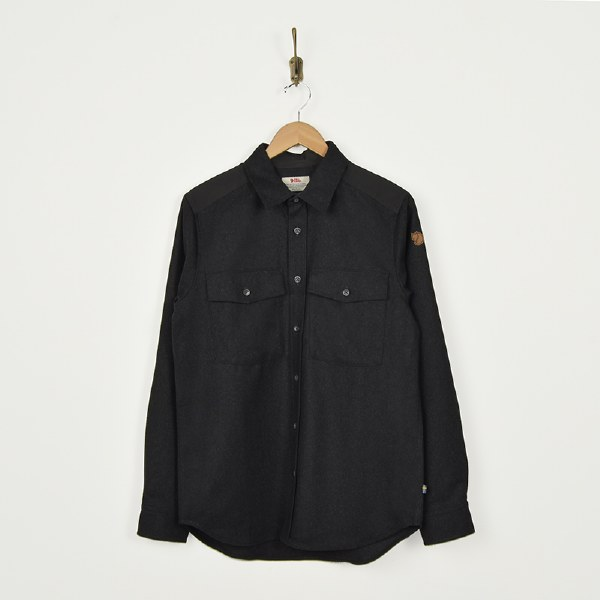 Fjallraven Ovik Re-wool Shirt - Dark Grey