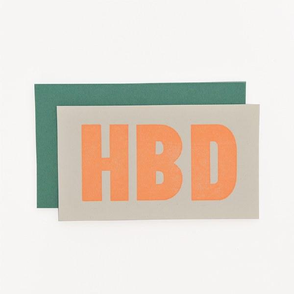 ETC Letterpress HBD Mini - Neutral