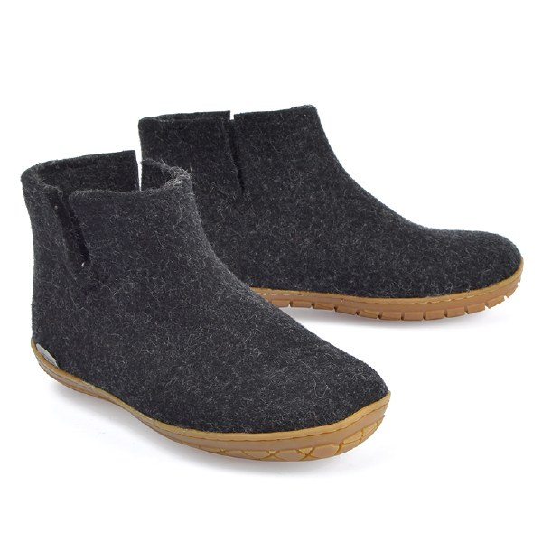 Glerups Low Boot Rubber - Charcoal