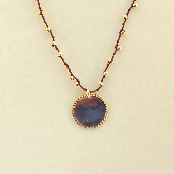 By Johanne Ibiza Beaded Medal - Gold