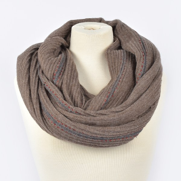 Joy Susan Pleat and Stripe - Taupe